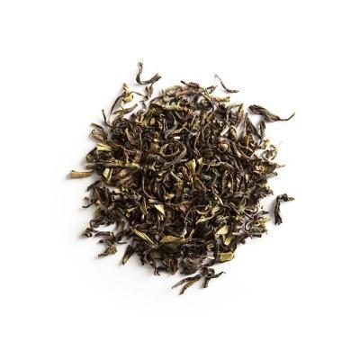 Darjeeling Second Flush loose leaf tea on white background