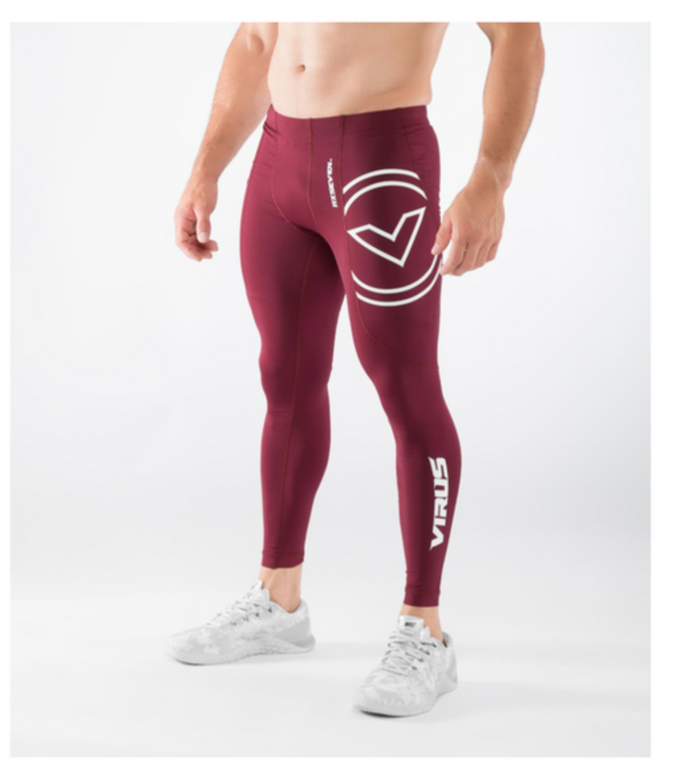 RX7 V3- SC COMPRESSION PANT MAROON/WHITE