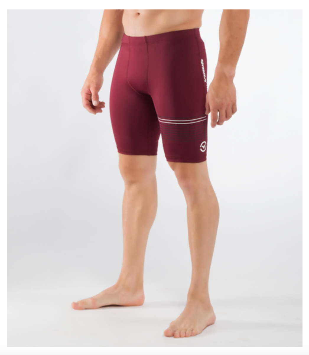 MEN'S STAY COOL COMPRESSION V3 TECH SHORTS (CO23)- MAROON