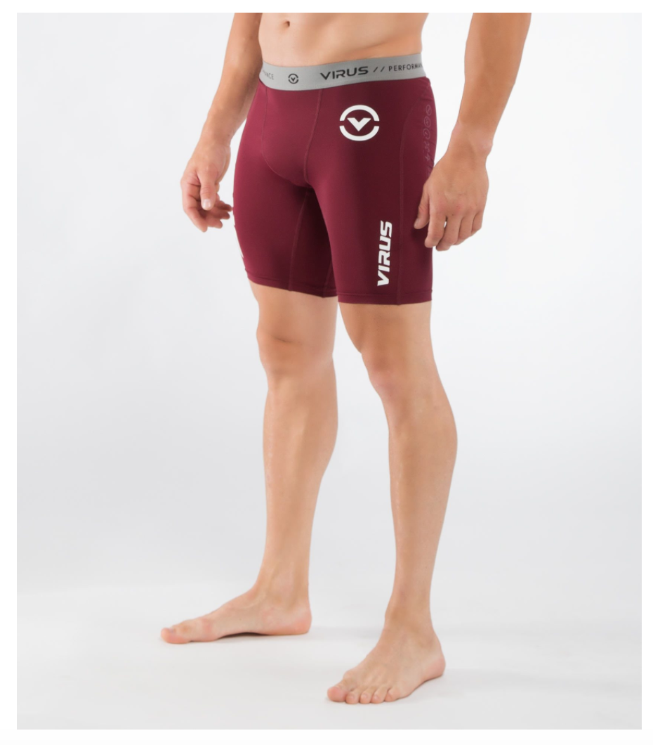 MEN'S STAY COOL COMPRESSION SHORT (CO14.5)-MAROON