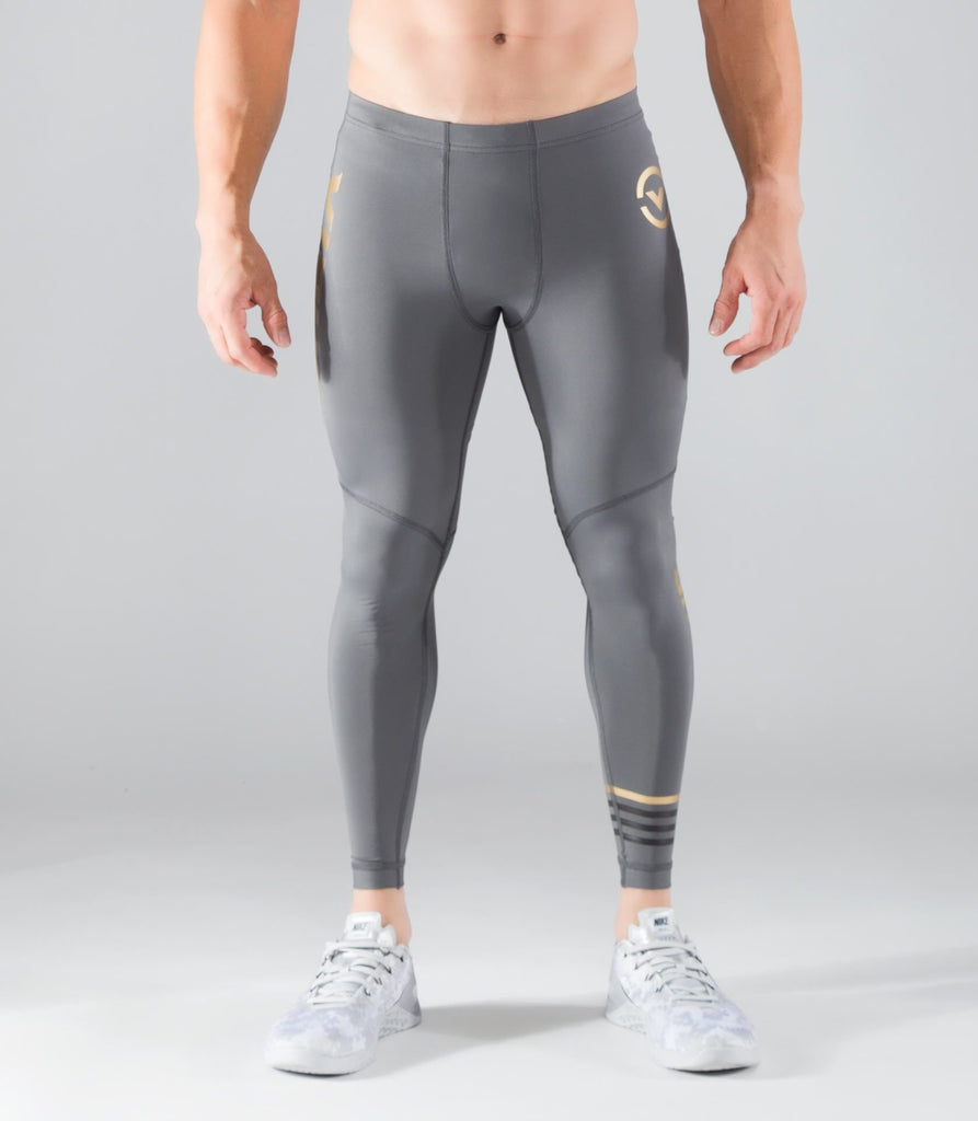 AU8 | BIOCERAMIC™ COMPRESSION TECH PANTS -CHARCOAL