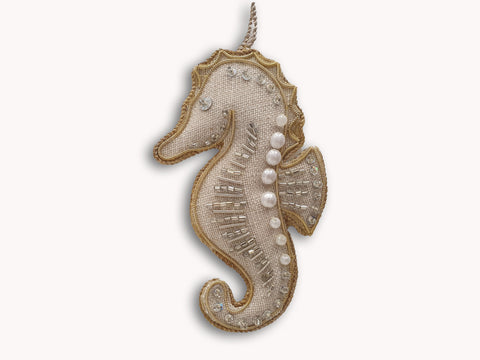 Katie Larmour Irish Linen Seahorse Decoration