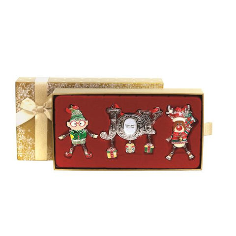 Tipperary Crystal Gold Box of 3 Decorations