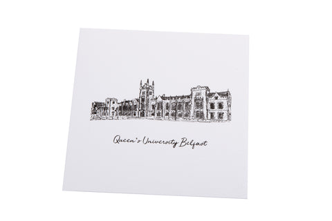 Queen's Black and White Greeting Card