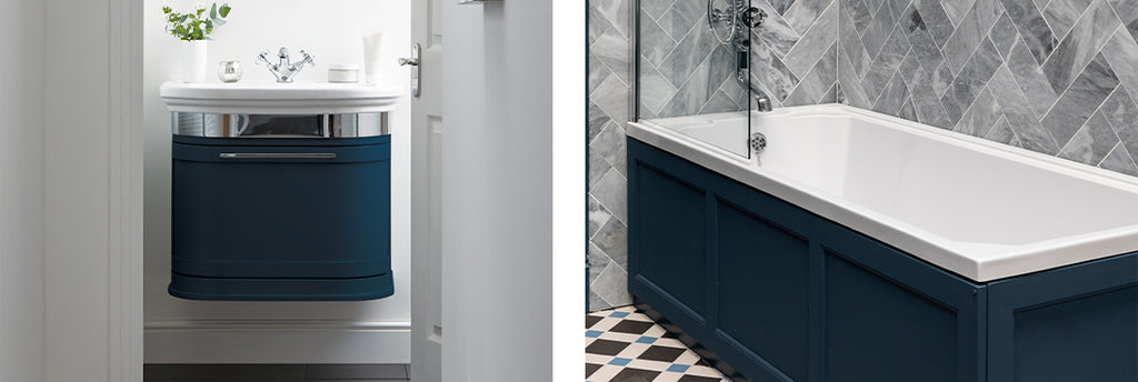 Traditional Classic Blue Bathrooms