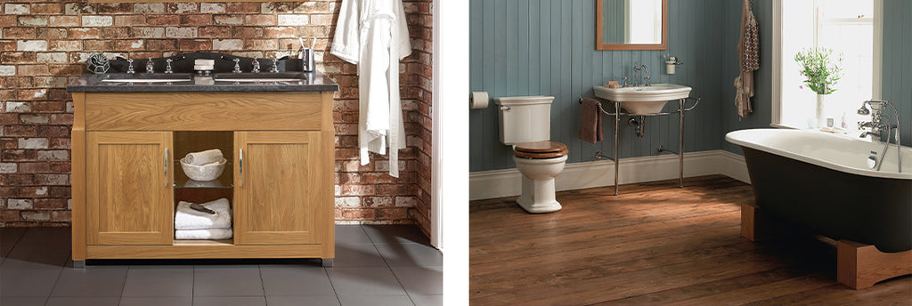 Natural Finishes Warm & Traditional Bathroom