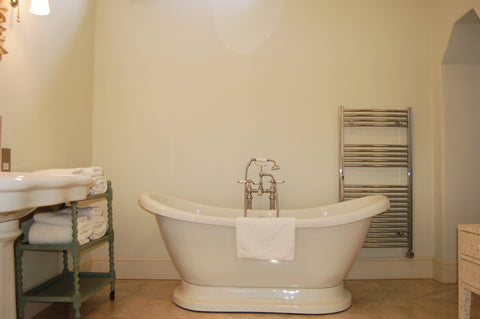 Pynes House Traditional Bathroom with Freestanding Bath