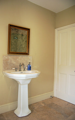 Pynes House Traditional Bathroom with Full Pedestal Basin