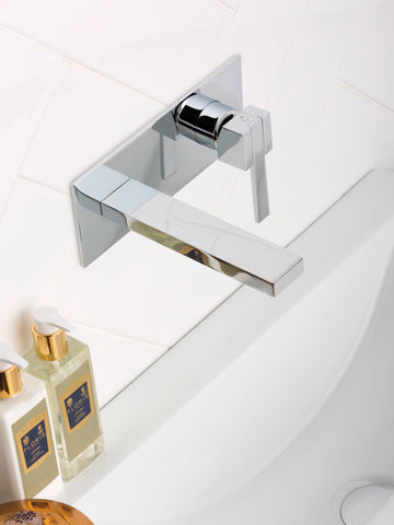 JTP Athena Single Hole Wall Mounted Basin Mixer