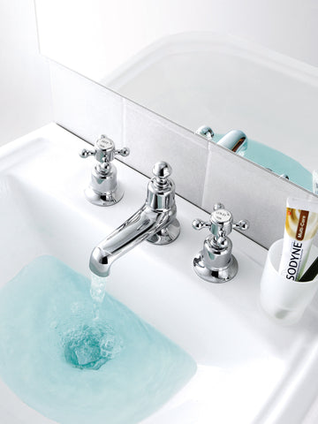 JTP Grosvenor Basin Mixer 3 Hole Tap