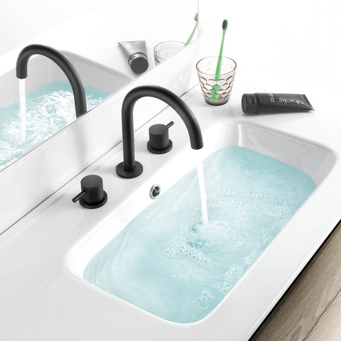 JTP Vos 3 Hole Basin Mixer Tap Black