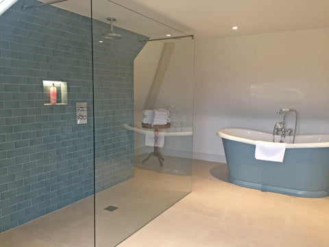 Pynes House Traditional Bathroom with Walk In Shower and Freestanding Bath
