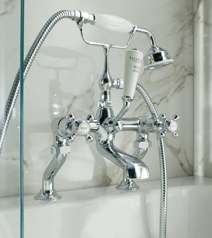 Bayswater Crosshead Deck Mounted Bath Shower Mixer Tap