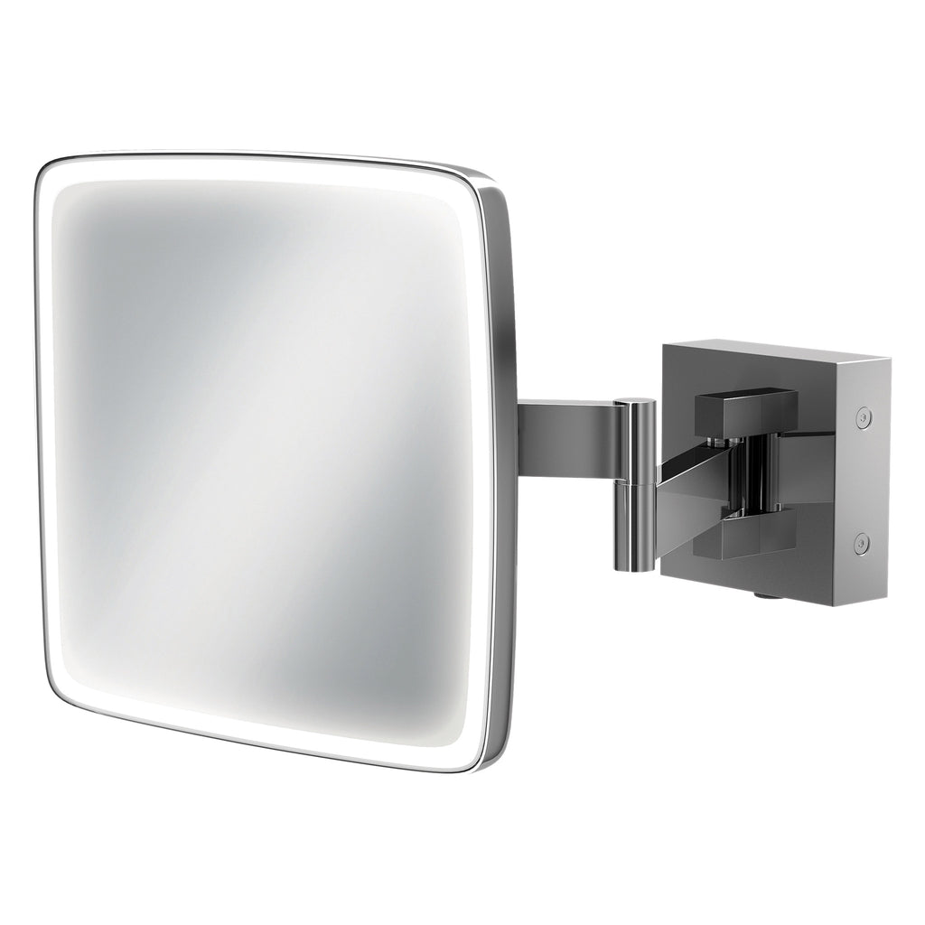 HiB Eclipse Square Magnifying Mirror 18 x 18cm -