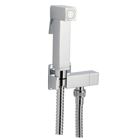 JTP Douche Square Set With Built In Angle Valve & Bracket