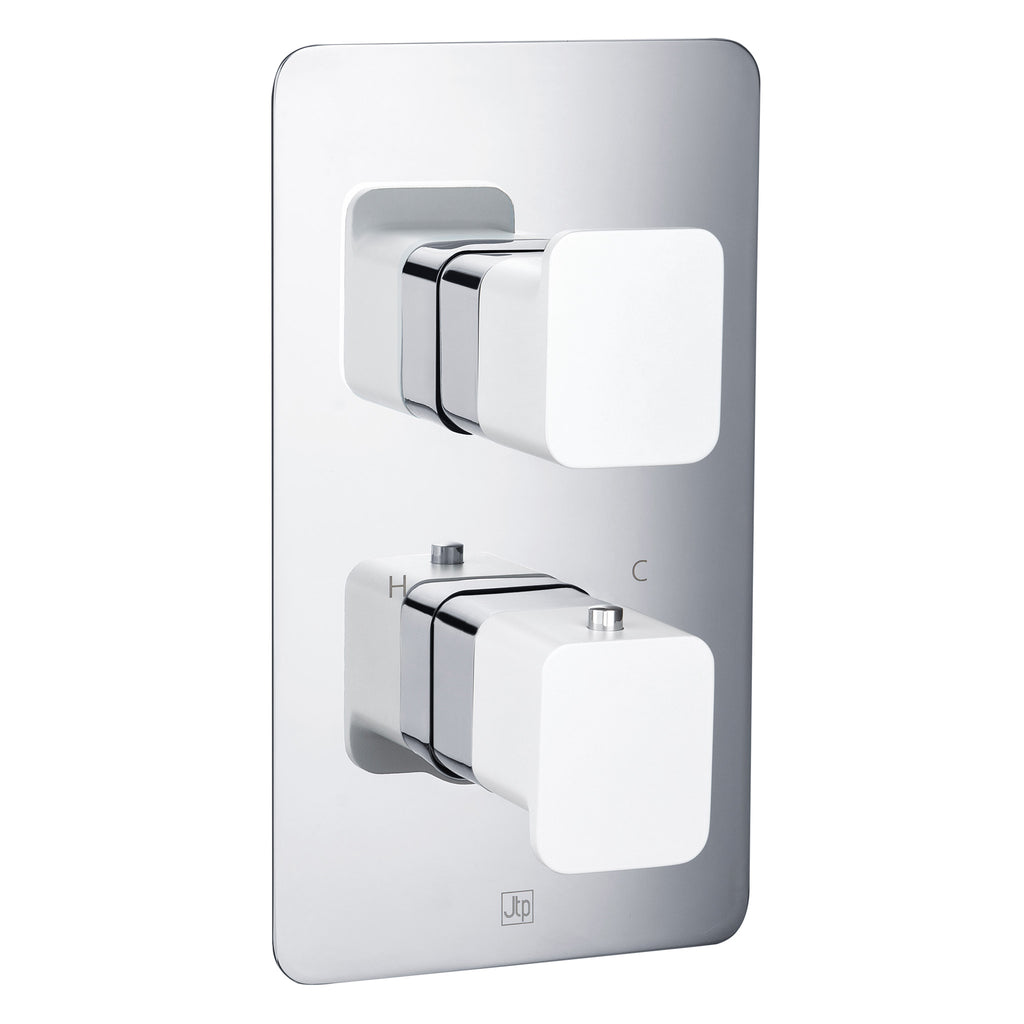 JTP AXEL Thermostatic Concealed 2 Outlet 2 Controls Shower Valve -