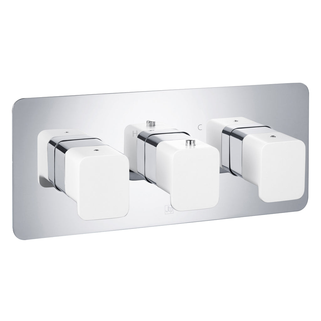 JTP AXEL Thermostatic Concealed 2 Outlet 3 Controls Shower Valve Horizontal -