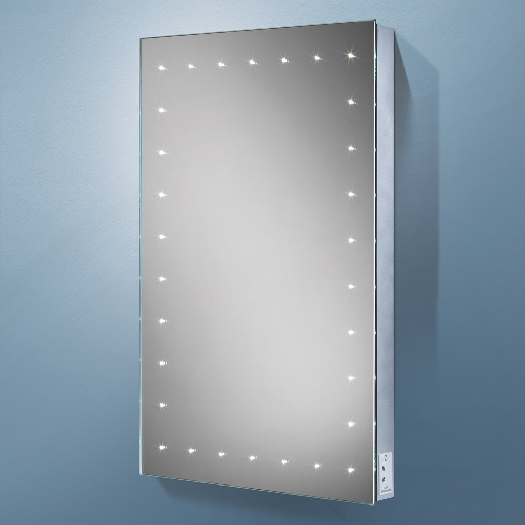 HiB Astral LED Mirror With Charging Socket 70 x 50cm -