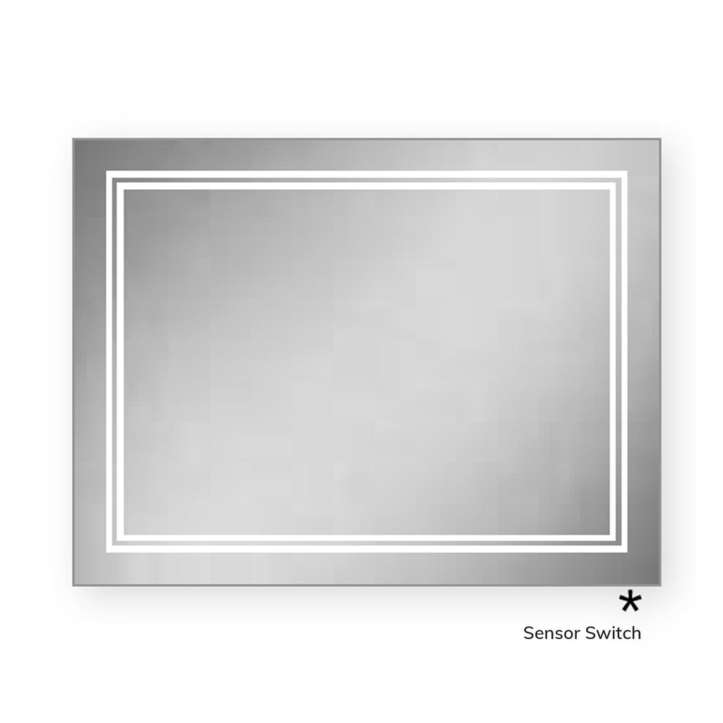 HiB Outline 80 LED Ambient Mirror 60 x 80cm -