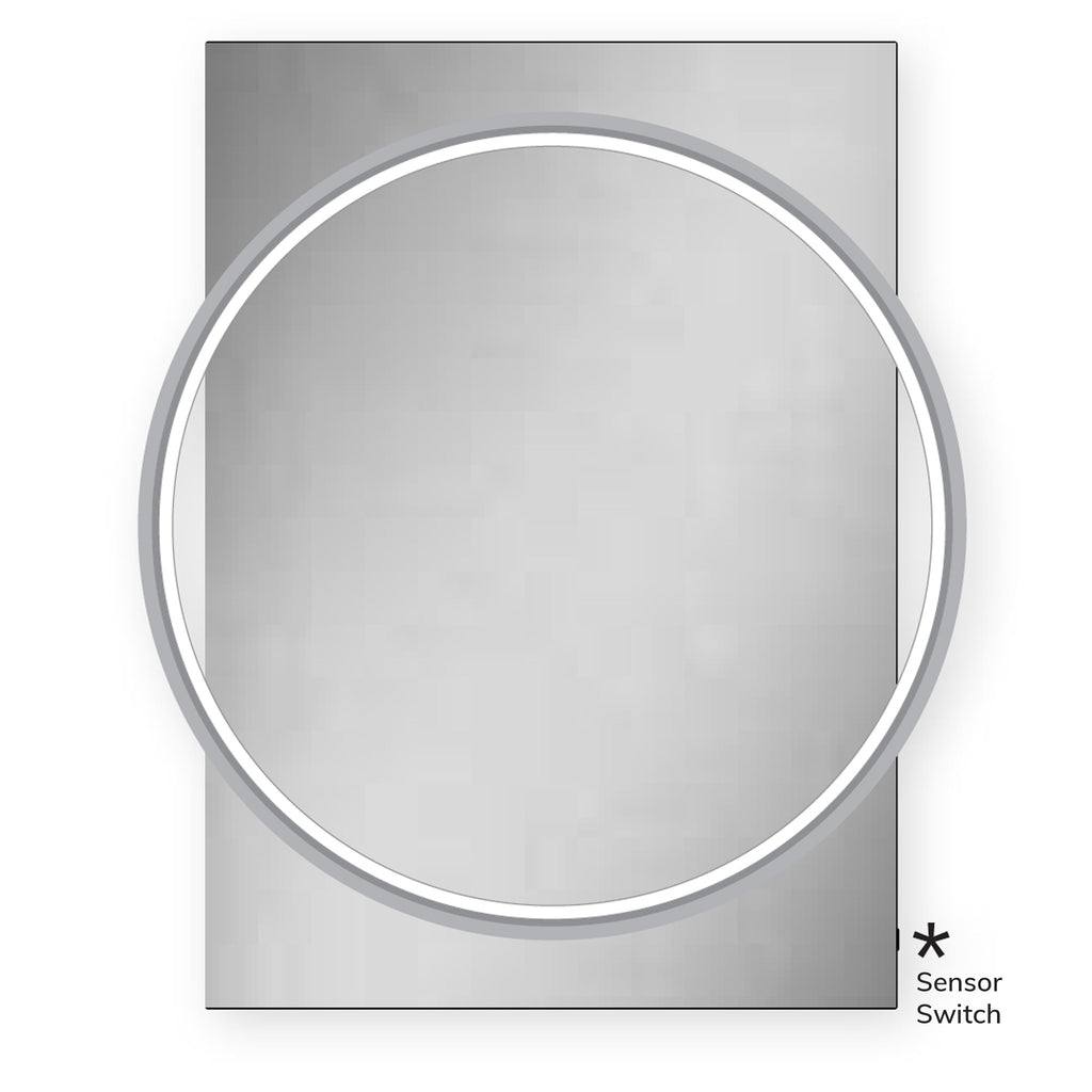 HiB Solas 60 LED Mirror 80 x 60cm - Chrome Frame -