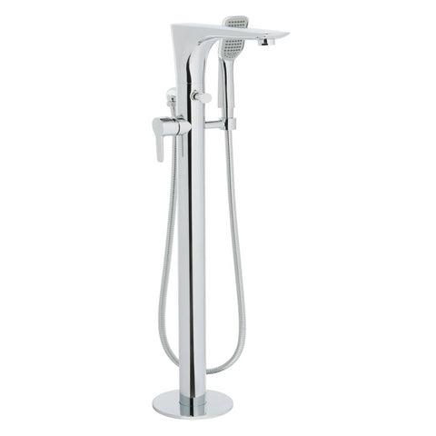 JTP Amore Side Lever Floor Standing Bath Shower Mixer Tap With Hand Shower