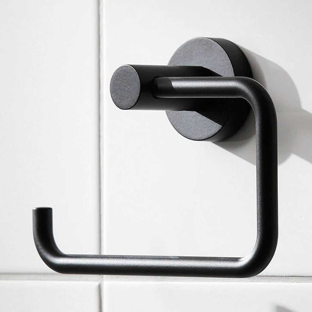 Miller Bond Black Toilet Roll Holder -