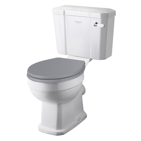 Standard Height With Plummett Grey Toilet Seat
