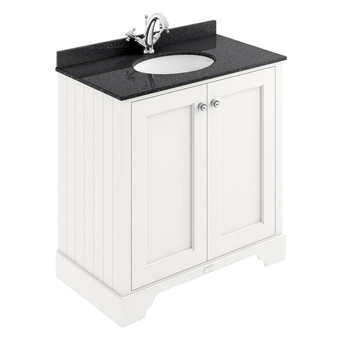 Pointing White / Black Marble / 1 Taphole