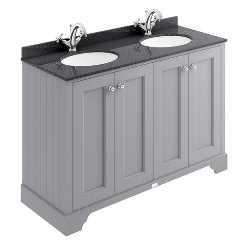 Bayswater 1200mm 4-Door Basin Cabinet & Marble Top