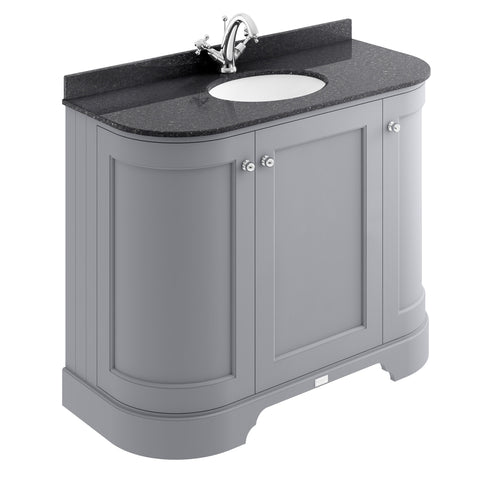 Bayswater 1000mm 3-Door Curved Basin Cabinet & Marble Top