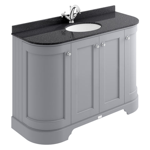 Bayswater 1200mm 4-Door Curved Basin Cabinet & Marble Top