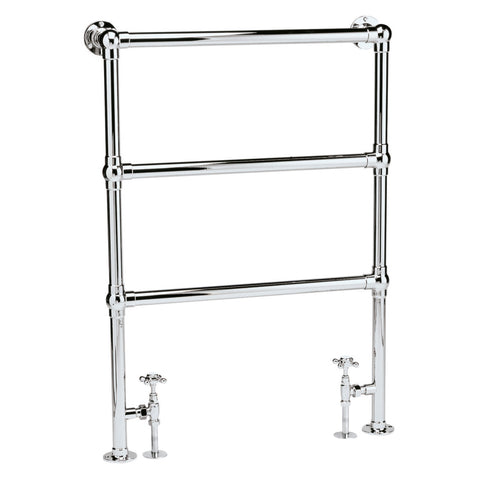 Bayswater Juliet Heated Towel Rail Floor Mounted 966 x 676mm - Chrome