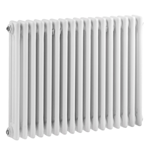 Bayswater Nelson Triple Column Radiator 600 x 786mm - High Gloss White