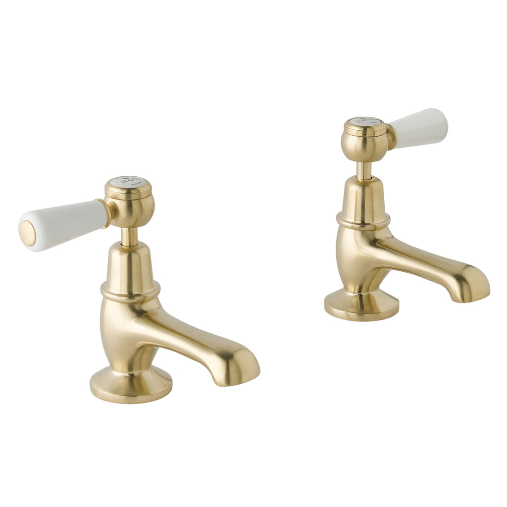 BC Designs Victrion Lever Basin Pillar Taps -
