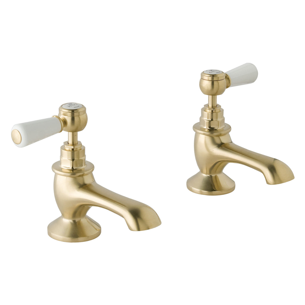 BC Designs Victrion Lever Bath Pillar Taps -
