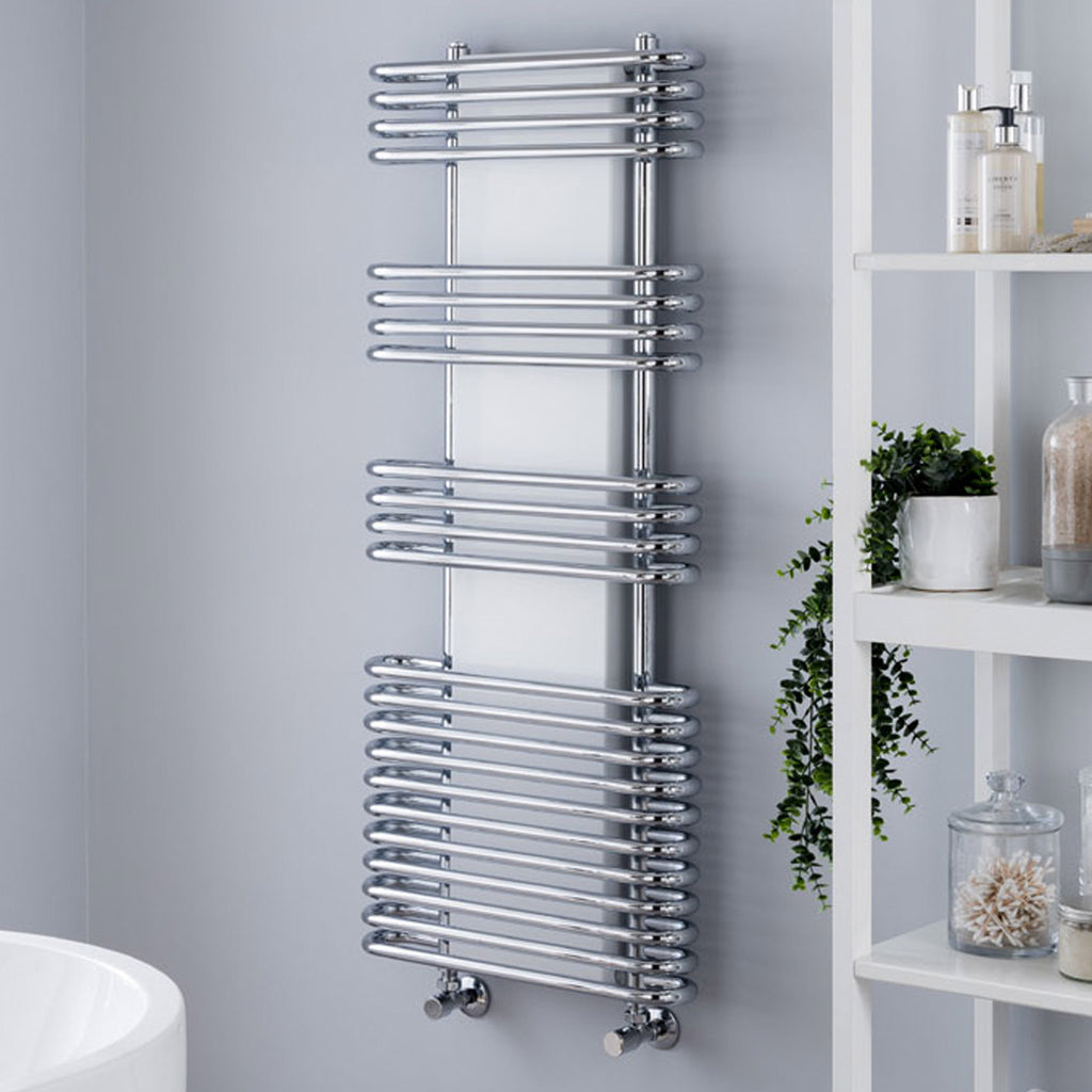 Vogue Cygnus Harmonique Wall Mounted Heated Towel Rail 500 x 1200mm -