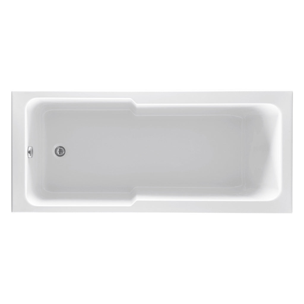 Unity Fibonacci Square Single Ended ROCK Shower Bath 1700 x 750mm -