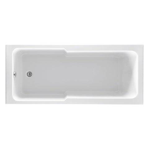 Unity Fibonacci Square Single Ended ROCK Shower Bath 1700 x 750mm
