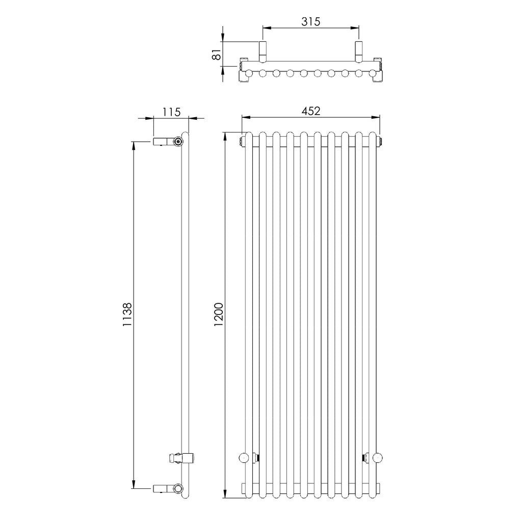 Vogue Ordinate Wall Mounted Radiator -
