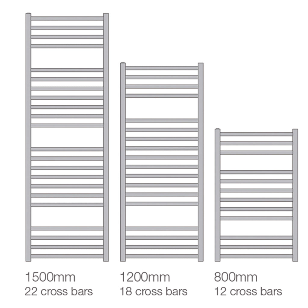 Vogue Rubik Wall Mounted Towel Rail -