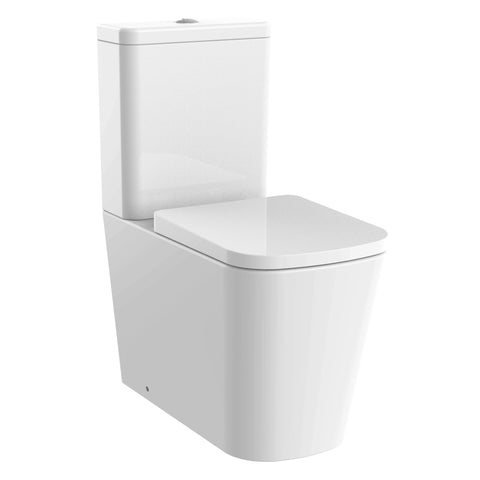Unity Jive Rimless Close Coupled Toilet & Soft Close Seat