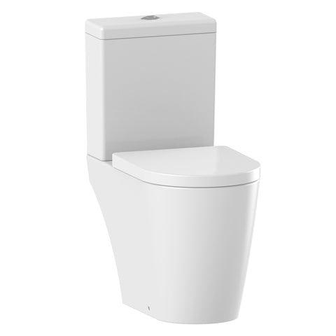Unity Zone Rimless Open Back Close Coupled Toilet & Soft Close Seat