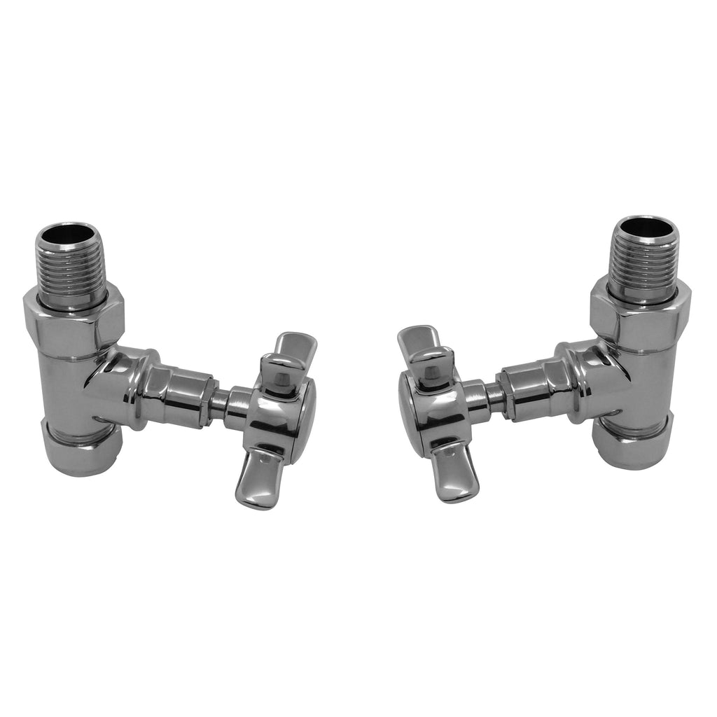 Radox Traditional Straight Cross Head Valve (Pair) -