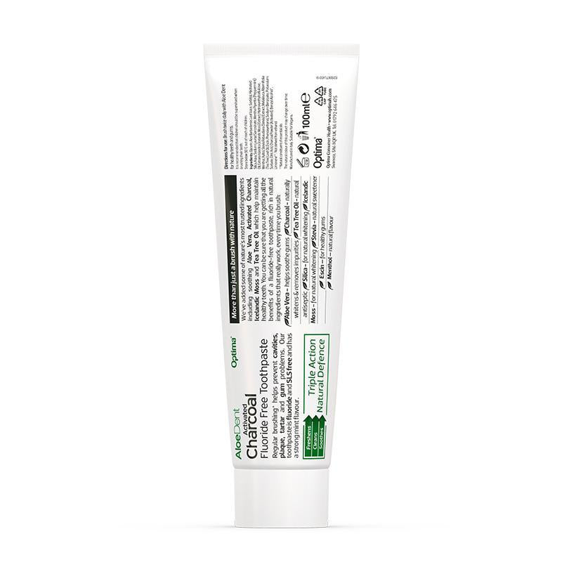 AloeDent® Charcoal Toothpaste - Optima Health & Nutrition