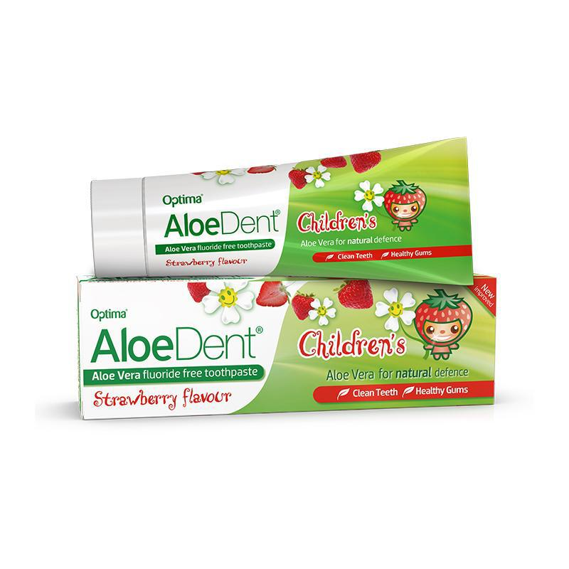 AloeDent® Children's fluoride free toothpaste 50ml - Optima Health & Nutrition