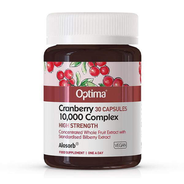 Optima Cranberry 10,000 Complex Tablets (30 VegCaps)