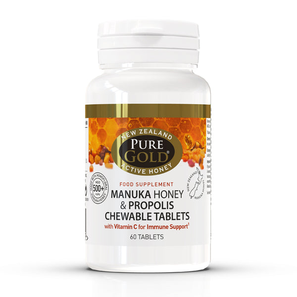 Manuka Honey and Propolis Chewable Tablets (60 Tablets)