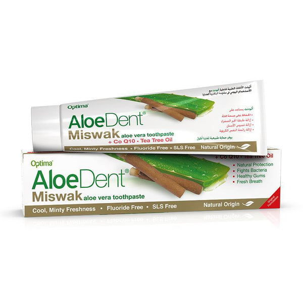 AloeDent® Miswak toothpaste 100ml - Optima Health & Nutrition