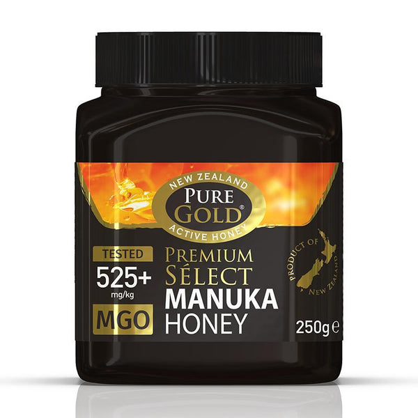 Pure Gold Premium Select Manuka Honey MGO 525 250g