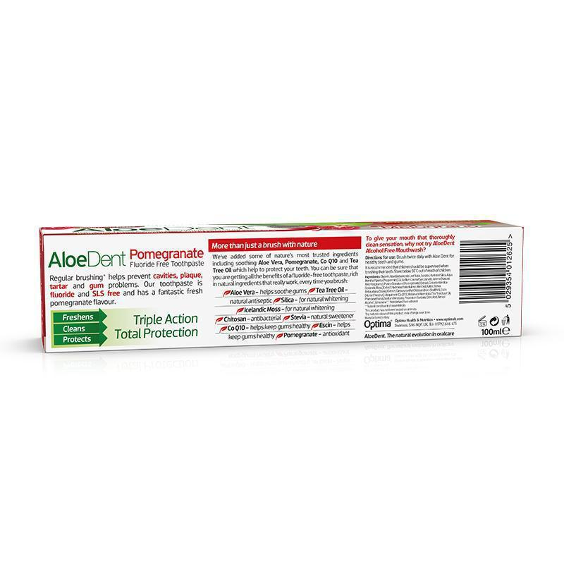 AloeDent® Pomegranate Toothpaste - Optima Health & Nutrition